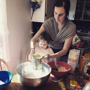 Helping Mommy bake